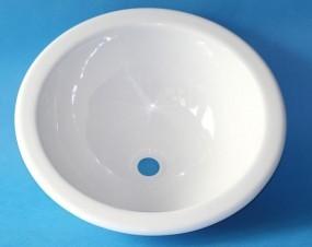 Waschbecken rund 300 weiß