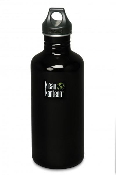 Klean Kanteen Flasche 'Classic' Loop Cap schwarz, 1,182 L