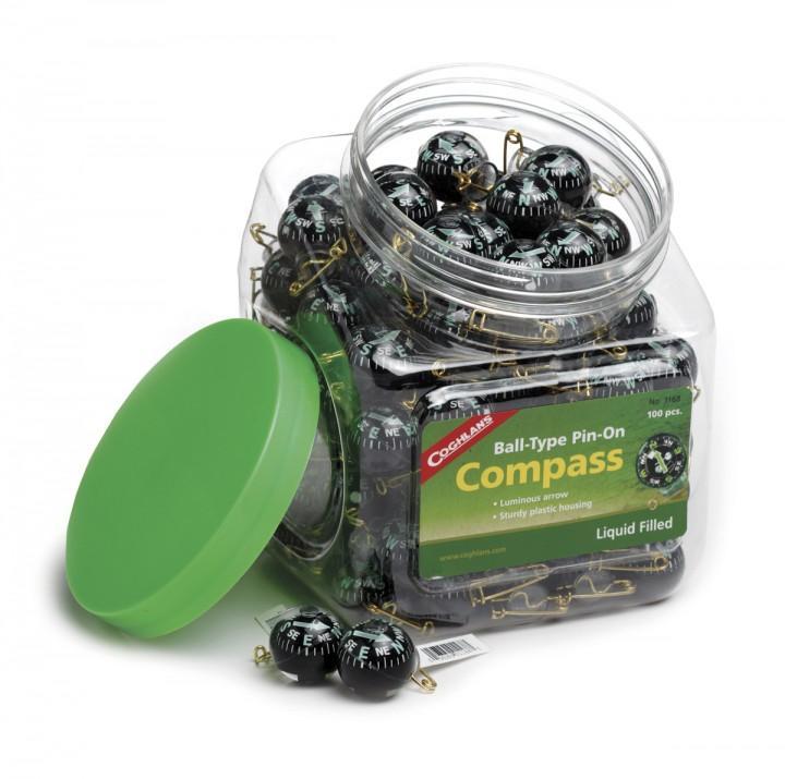 Coghlans Pin-On Kompass Bowl mit 100 Stück