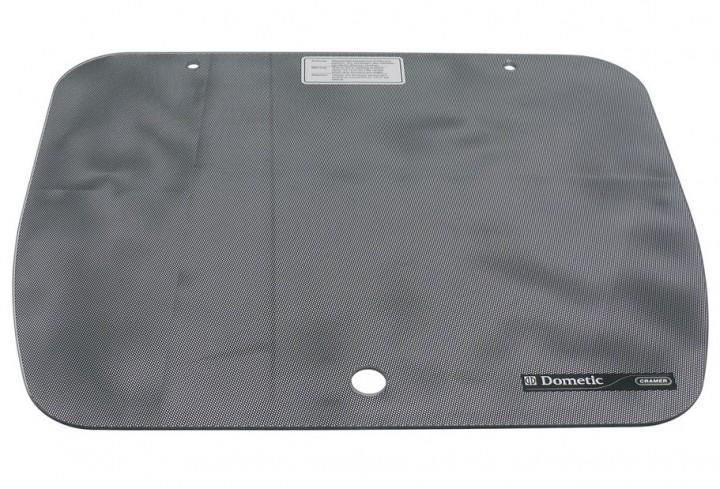 Glasabdeckung Punktmuster schwarz für Cramer-Spülbecken EK 2000 40 x 44,5cm