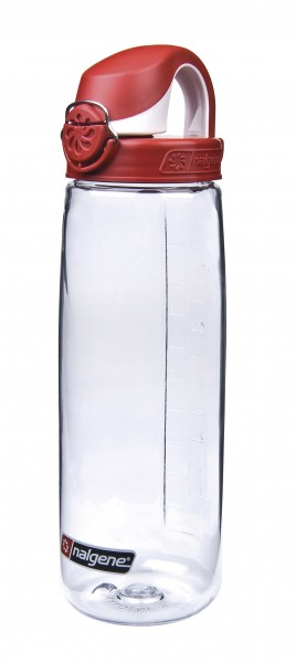 Nalgene 'Everyday OTF' 0,7 L, transp., Deckel rot