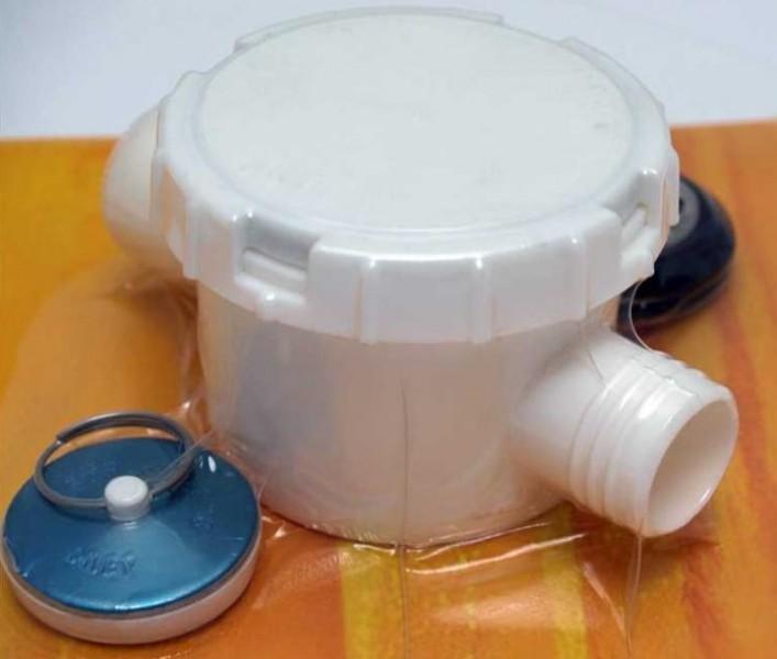 Wasserablaufgarnitur 2 Anschlüsse Schlauch 25 mm Typ A 33 mm