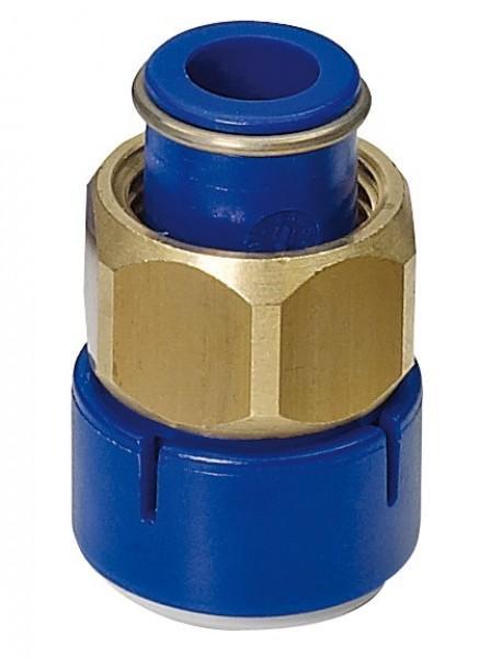 Gerader Verbinder mit Verschraubung UniQuick Trinkwassersystem 12 mm