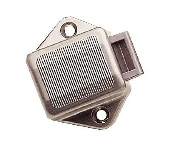 Mini PUSH-Lock-Schloss 5 x 3,3 x 4,5 cm vernickelt