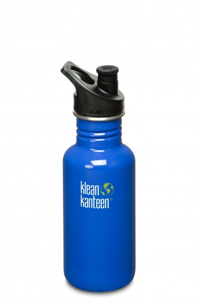 Klean Kanteen Flasche 'Classic' Sports Cap dunkelblau, 0,532 L