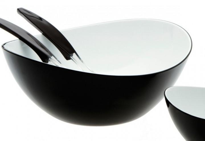 Gimex Salatschale groß schwarz