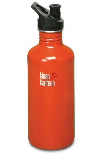 Klean Kanteen Flasche 'Classic' Sports Cap rot, 1,182 L