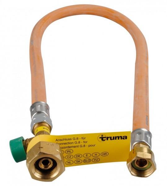 Hochdruckschlauch mit Schlauchbruchsicherung G 8 Europa Shell-Flasche 750 mm