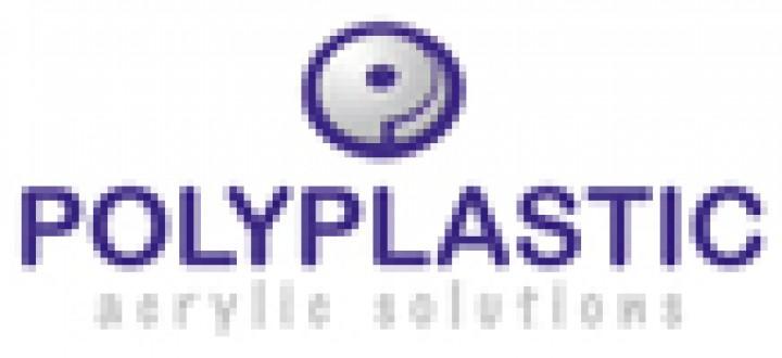 Polyplastic Winkel für Aussteller grau