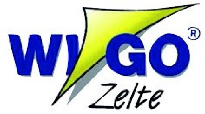Wigo Vorderwand für Rolli Premium 4,5m Dunkelblau/Weiß